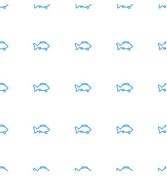 Fish icon pattern seamless white background vector