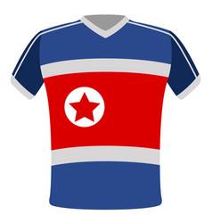 Flag t-shirt of north korea vector