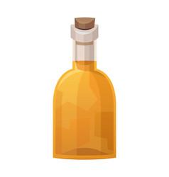 Glass bottle rum on white background vector