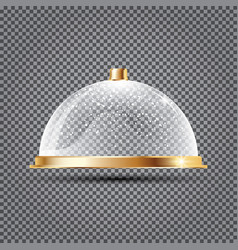 Glass dome with snow on transparent background vector