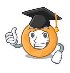 Graduation onion ring character cartoon vector
