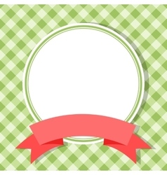 green frame for invitation card with red ribbon vector image