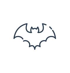 Halloween black bat icon line art vector