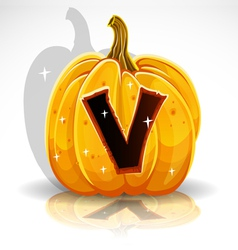 Halloween Pumpkin V vector image