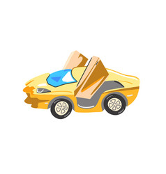 hand drawing sketch golden super car icon vector image