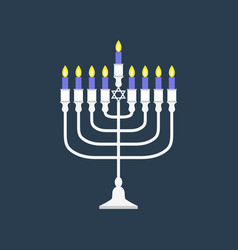 Hanukkah menorah flat design vector