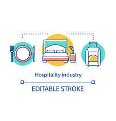 Hospitality industry concept icon lodging food vector