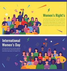 International women s day women different vector