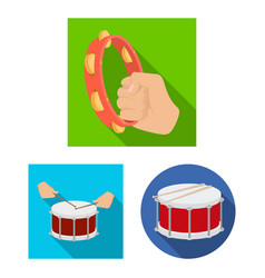 isolated object of drum and instrument sign vector image