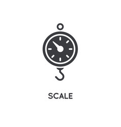 kitchen scale element or icon ready for print or vector image