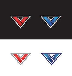 Letter v logo vector