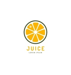 Lime or lemon fruit drink logo icon template vector