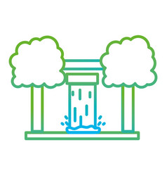 Line water tank reserve with ecology trees vector