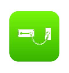 lock snap icon green vector image