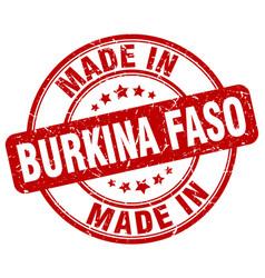Made in burkina faso red grunge round stamp vector