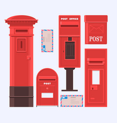 Mail boxes set vintage vector