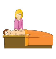 Man getting massage vector
