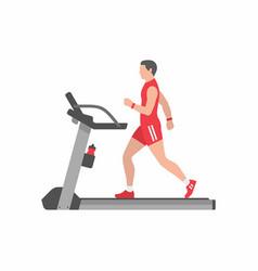 man running on treadmill vector image