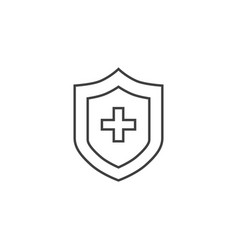 medical insurance thin line icon vector image