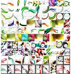 Mega collection of geometric abstract backgrounds vector image
