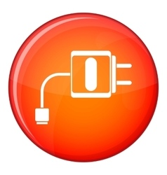 Mini charger icon flat style vector