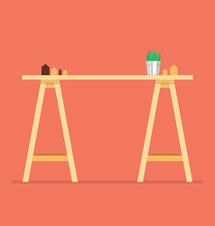 Modern office table vector image