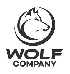 modern wolf logo vector image