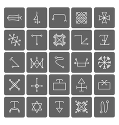 Mystical symbols and sacred signs icons vector image