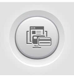 Online Payment Icon Grey Button Design vector