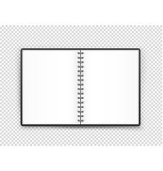 opened book page object isolated on transparent vector image