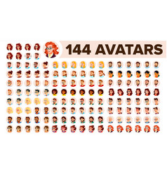 people avatar set man woman default vector image