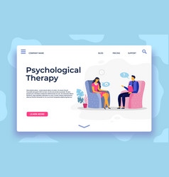 psychological therapy landing page depression vector image