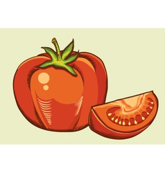 Red tomatos fresh vegetable vector image