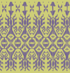 seamless ikat patternlilac vector image