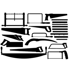Set Of Different Saws vector image