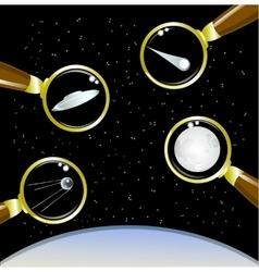 Set of space objects EPS10 vector image