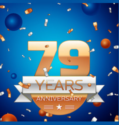Seventy nine years anniversary celebration design vector