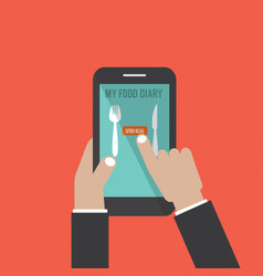 Smartphone with food application basal metabolic vector