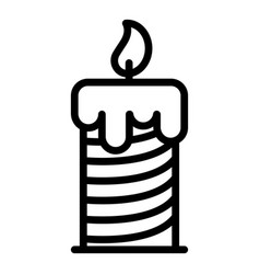Striped candle icon outline style vector