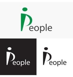 Stylized People logo Logo letter P vector