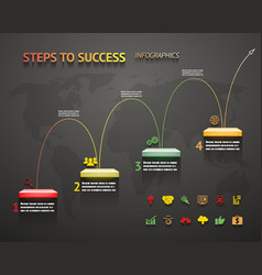 Success Option Steps Template Arrow and Staircase vector