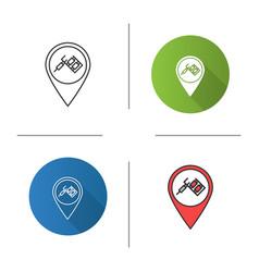 Tattoo studio location icon vector