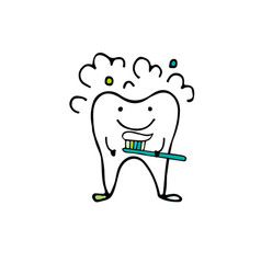 tooth character sketch for your design vector image