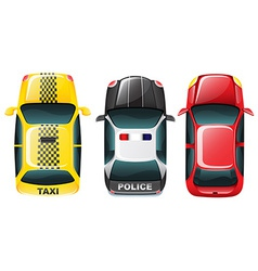 Top of cars vector