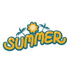 Typography summer have border on white background vector
