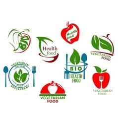 Vegetarian food symbols vector image