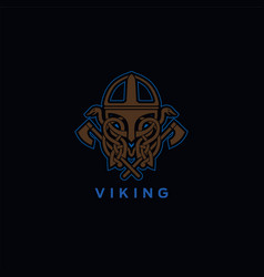 viking helmet ornament vector image