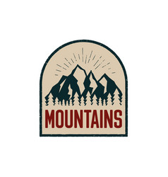 vintage hand drawn adventure logo patch with vector image