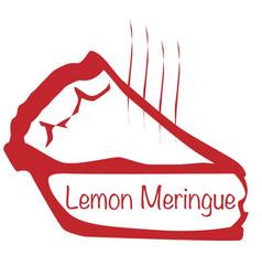 Warm lemon meringue pie vector