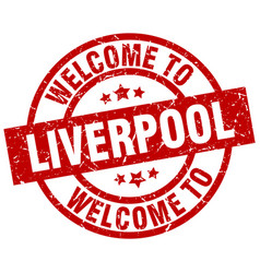 Welcome to liverpool red stamp vector